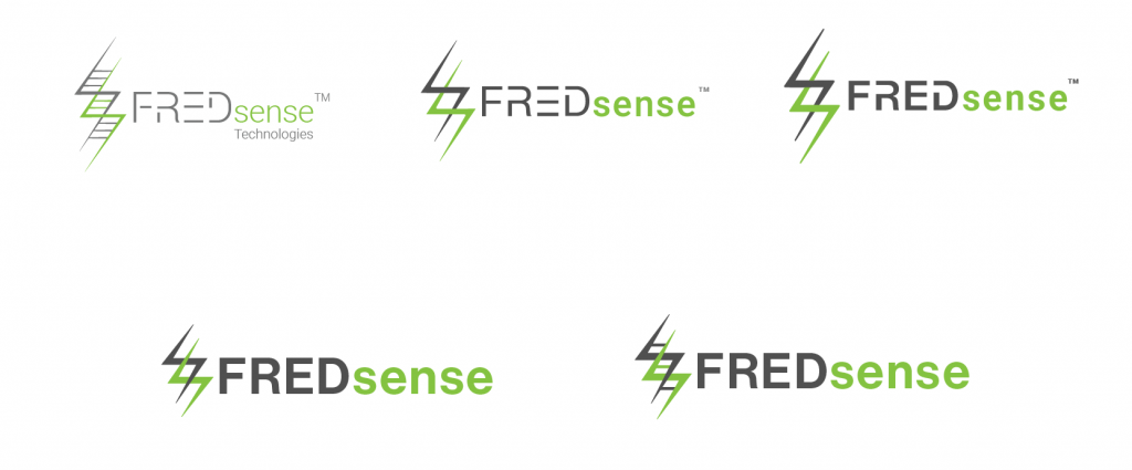 The evolution of the old FREDsense logo to the new one.